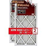 Filtrete Micro Allergen Defense AC Furnace Air Filter, MPR 1000, 20 x 30 x 1-Inches, 2-Pack