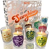 BeKind Sunshine Scented Candles Set for Home – Perfect Home Décor, Birthday Gifts for Women, Stress Relief, Natural Soy Wax a