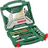 Bosch 2607019327 50 Piece X-Line Titanium Drill and Screwdriver Bit Set (For Wood, Masonry, and Metal)