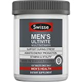 Swisse Premium Ultivite Daily Multivitamin for Men | Energy & Stress Support, Rich in Antioxidant & Minerals | Vitamin A, Vit