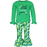 Unique Baby Girls 2 Piece Little Miss Lucky St Patrick's Day Outfit