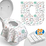Toilet Seat Covers Disposable - 20 Pack - Waterproof, Ideal for Kids and Adults – Extra Large, Individually Wrapped for Trave