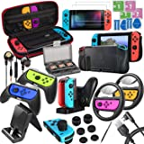ALIENGT 20 in 1 Switch Accessories Bundle for Nintendo Switch, Included Travel Carry Case, Charging Playstand, Charging Dock,
