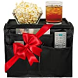 TV Remote Control Holder & Armrest Organizer ? Sofa Couch Arm Tray and Pocket Caddy as Holders for Remote Controls Drinks Sna