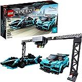 LEGO Speed Champions Formula E Panasonic Jaguar Racing Gen2 car and Jaguar I-PACE eTROPHY 76898 Building Kit, New 2020 (565 P
