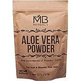 MB Herbals Aloe Vera Powder 227 Gram | 8 oz | 0.5 lb | 100% Pure & Organically Cultivated Aloevera Powder | Natural Skin Mois