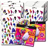 Trolls Stickers Party Favors - Bundle of 12 Sheets 240+ Stickers