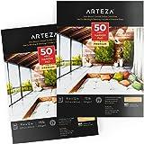 "Arteza Marker Paper Pad 9X12"", Marker Book (73lb/120g, 100 Sheets, 2 Pack)"