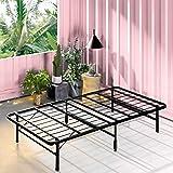 Zinus Smartbase Foldable Single Bed Base Premium Metal Steel - Folding Bed Frame Platform Mattress Foundation with Under Bed