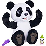 furReal - Plum the Curious Panda Bear - Black & White Pet Bear - Interactive Plush Toy - Toys for Kids - Girls and Boys - Ama