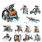 Lucky Doug Solar Robot Kit 12-in-1 Science STEM Robot Kit Toys for Kids Aged 8-12 and Older, Science Building Set Gifts for B