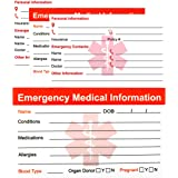 RXBC2011 Emergency Medical Information Card Pack of 5