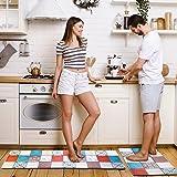 Pretigo Anti Fatigue Kitchen Rug Set 2 Piece Non Slip Cushioned Kitchen Floor Mat Waterproof Comfort Standing Kitchen Rug Mix
