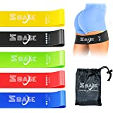 SBASE Resistance Loop Bands (Set of 5), Power Resistance Band for Heavy Duty, Natural Latex Fitness Exercise Band for Workout