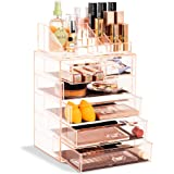 Sorbus Cosmetic Makeup and Jewelry Storage Case Display - Spacious Design - Great for Bathroo, Dresser, Vanity and Countertop