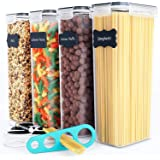 4 Pack Pasta Storage Containers (Black)