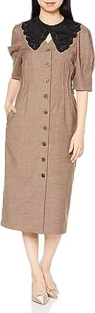 [リリーブラウン] 衿付きVネックワンピース LWFO211088 レディース