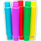 HRWTOYS Pop Tubes Sensory Toys Pack of 5, Fidget Sensory Learning Toys for Toddlers Kids Adults, Pipe Sensory Tools and Stres