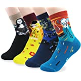 V28 Women's Cute Socks with Owls Pandas Tigers Foxes Various Pattern Mixed Colors