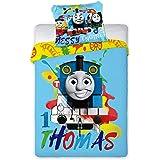 "Thomas the Tank Engine Duvet Set, Toddler Bed Duvet Cover Set Official Licensed (53.1"" x 39.3"" inch)"