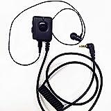 MKI-P1-4ボタンコントロールマイク + MKI-E2 –遮音イヤホン(穴あき耳栓付き)セット