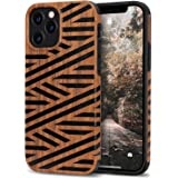 Tasikar Compatible with 6.7 Case Easy Grip with Wood Grain Design Slim Hybrid Case (Leather & Wood)