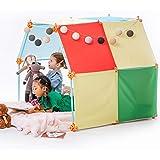 Kizihaus Fort Building kit (Balls and Sticks Kit) with Storage Bag – Kids Fort | Fort kit | Fort Builder | Indoor Fort | Blan