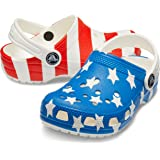Crocs Unisex-Child 206030-94S Classic American Flag White Size: