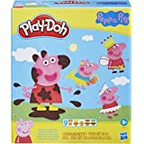 Play-Doh Peppa Pig Stylin Set - with 9 PlayDoh tubs of Non-Toxic Modelling Dough and 11 Toy Accessories - Kids Sensory Toys -