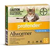 Profender Allwormer Spot-On for Cats 2.5-5kg, 2 Pack