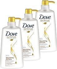 Dove Nutritive Solutions Conditioner Nourishing Oil Care, 3 x 640ml
