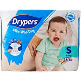 Drypers Wee Wee Dry, S, 82ct (Pack of 3)
