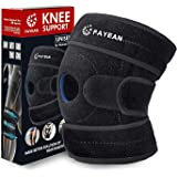FAYEAN Knee Brace with Sid Stabilizer&Patella Gel Pads for Knee Support, Meniscus Tear,Arthritis,Open Patella Design Neoprene