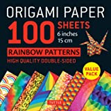 """Origami Paper 100 Sheets Rainbow Patterns 6"""" (15 cm): Tuttle Origami Paper: High-Quality Double-Sided Origami Sheets Printed"""