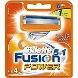 ジレット 髭剃り フュージョン5+1 パワー 替刃4個入