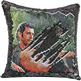 Merrycolor Sequin Pillow Cover Nicolas Cage Magic Reversible Mermaid Throw Pillow Cover for Couch Decorative Cushion Cover Fu