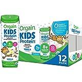 Orgain Organic Kids Protein Nutritional Shake, Vanilla - Great for Breakfast & Snacks, 26 Vitamins & Minerals, 10 Fruits & Ve