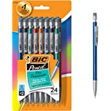 BIC Pencil Xtra Precision (Metallic Barrels), Fine Point (0.5 mm), 24ct