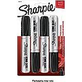 Sharpie 15661PP キングサイズ 油性マーカー チゼルチップ ブラック 4本