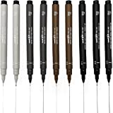 Uni Pin Fineliner Drawing Pen - Sketching Set - Black, Dark Gray, Light Gray, Sepia - 0.1/0.5mm - Set of 9
