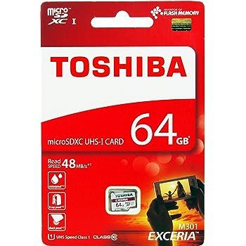東芝 EXCERIA microSDXC64GB Class10 UHS-1対応 最大読込速度48MB/s 防水/耐X線 海外パッケージ品 THN-M301R0640A4