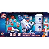 Astro Venture Space Playset - Toy Space Shuttle, Space Station & Space Rover with Lights and Sound & 2 Astronaut Figurine Toy