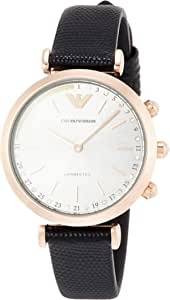 [エンポリオアルマーニ] 腕時計 GIANNI T-BAR ハイブリッドスマートウォッチ ART3027 レディース 正規輸入品 ブラック