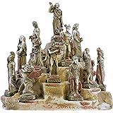 Set 12 Twelve Greek Olympian Gods Pantheon Miniature Figure Statue Cast Stone
