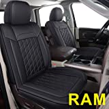 LUCKYMAN CLUB 81D-XFG Ram Seat Covers Full Set, Fit for Most of The 2006-2020 Ram 1500 2500 3500 Crew Cab& Quad Cab Truck, wi