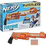 Nerf Fortnite - 6-SH Dart Blaster - Camo Pulse Wrap Revolver - Hammer Action Priming - Orange - 6-Dart Rotating Drum - 6 Fort