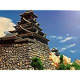 日本100名城 豊臣大坂城 お城 大阪城 模型 ジオラマ完成品 A4サイズ