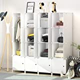 JOISCOPE Portable Wardrobe for Hanging Clothes, Combination Armoire, Modular Cabinet for Space Saving, Ideal Storage Organize
