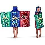 "Franco Kids Bath and Beach Soft Cotton Terry Hooded Towel Wrap, 24"" x 50"", PJ Masks"