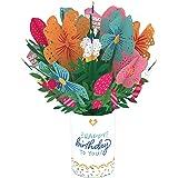 Lovepop Birthday Flower Bouquet - 3D Card, Birthday Bouquet, Flower Bouquet Card, Pop Up Bouquet, Floral Birthday Card, Pop U